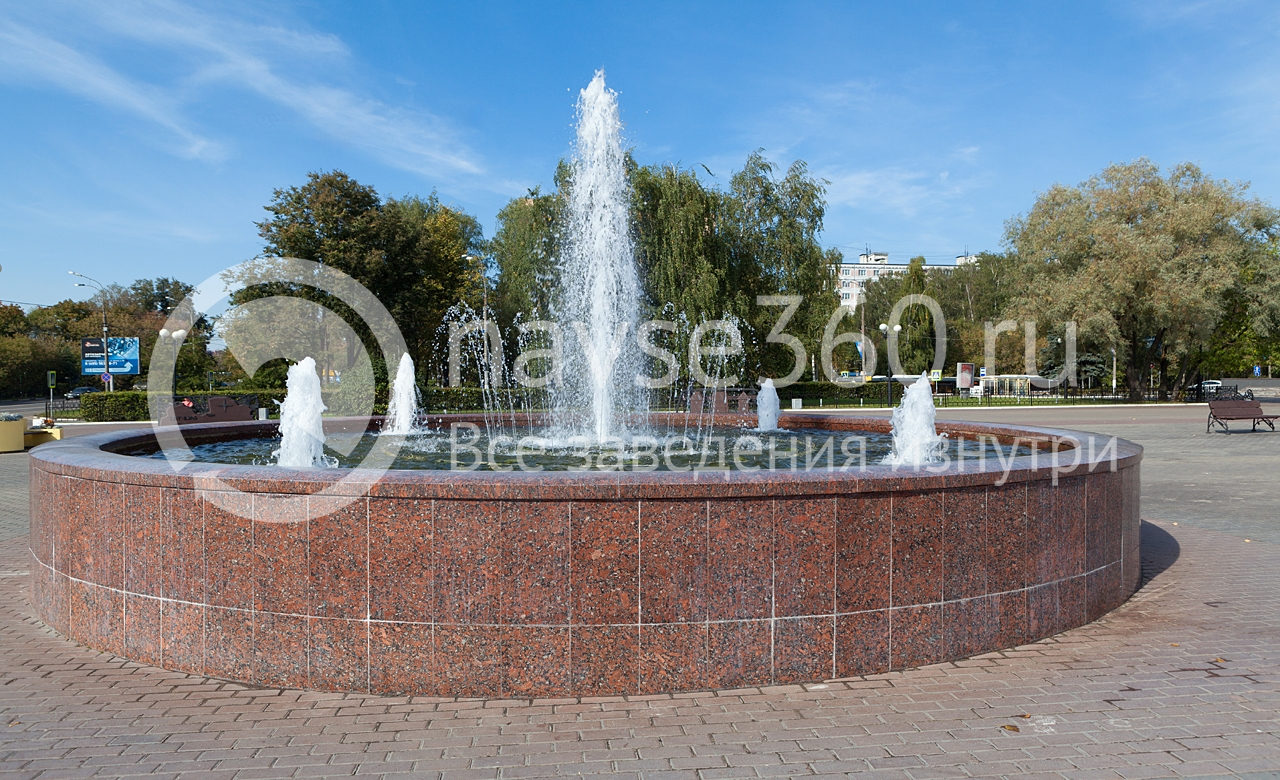 фонтан у ДК Подмосковье