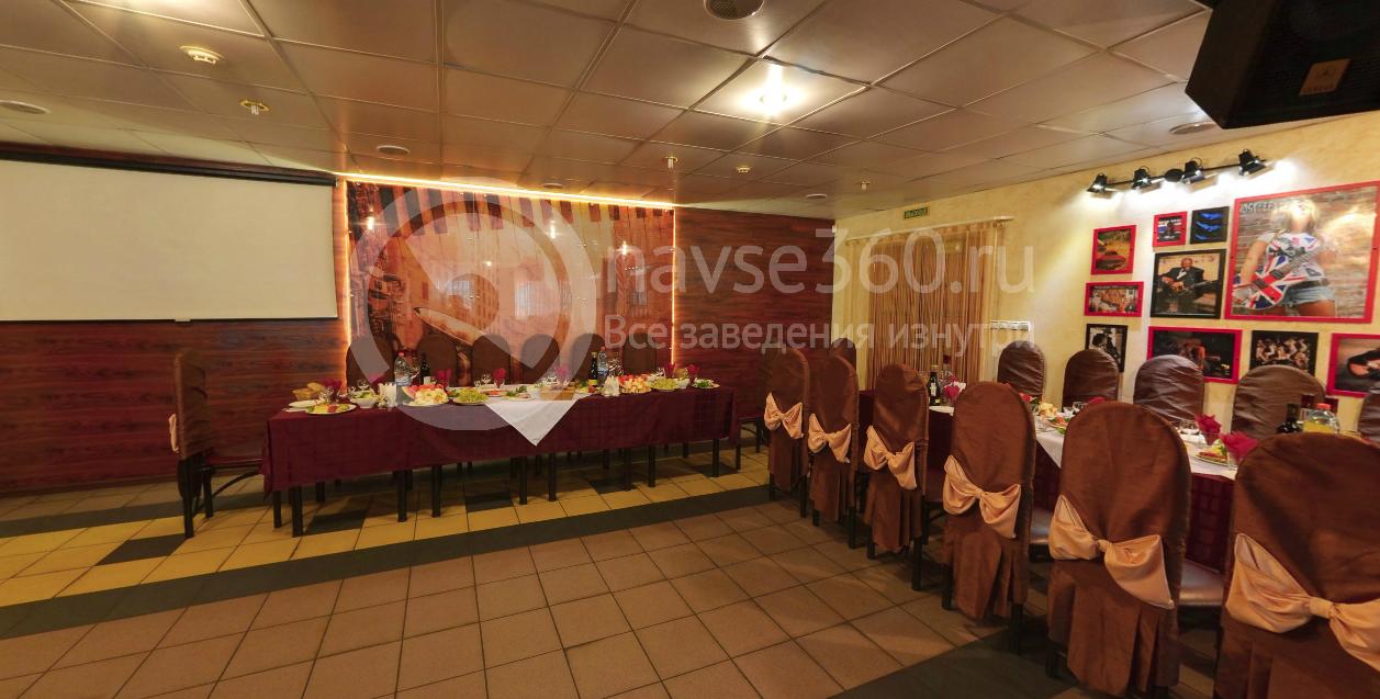 Банкетное оформление зала кафе Блюз