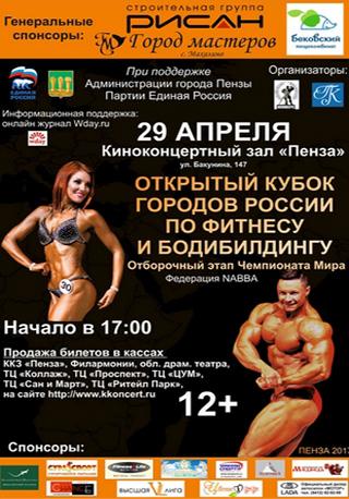 Открытый Кубок городов России по фитнесу и бодибилдингу