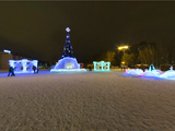 Новогодняя ёлка на центральной площади