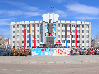 Парад победы, пл. Ленина